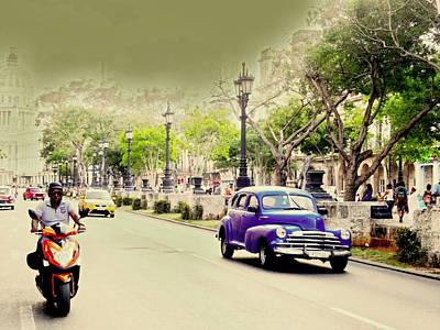 Photograph - Funky Streets Of Havana  by Funkpix Photo Hunter