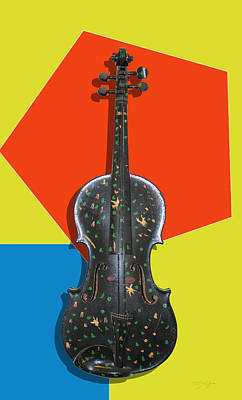 Photograph - Funky Violin by Tom Conway