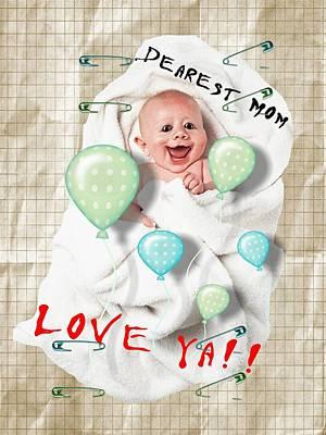 Digital Art - Funny Baby by Larisa Isaeva