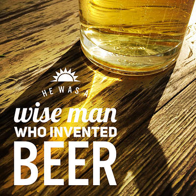 Beer Royalty-Free and Rights-Managed Images - Funny beer quote by Matthias Hauser