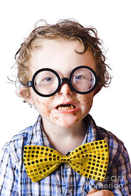 Funny Boy Covered In Chocolate Art Print by Jorgo Photography - Wall Art Gallery