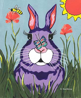Painting - Funny Bunny  by Kathleen Sartoris