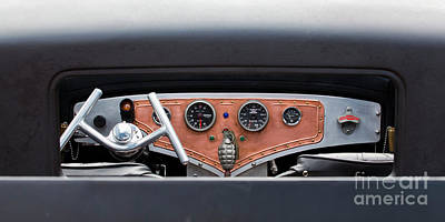 Photograph - Funny Car Dash by Chris Dutton