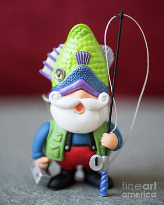 Elf Photograph - Funny Christmas Fisherman by Edward Fielding