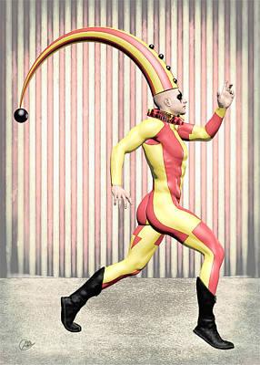 Buying Art Online Digital Art - Cirque Costume by Quim Abella