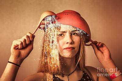 Ladle Photograph - Funny Creative Cooking Pinup Girl by Jorgo Photography - Wall Art Gallery