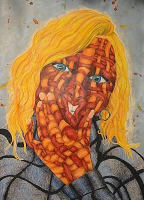 Self-portrait Mixed Media - Funny Faces by Alexandria  Becker