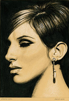 Drawing - Funny Girl by Rob De Vries