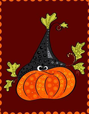 Pumpkins Painting - Funny Halloween by Veronica Minozzi