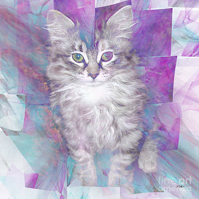 Digital Art - Fur Ball - Square Version by John Beck