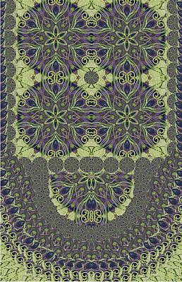 Tapestries - Textiles Digital Art - Fur Effect Pattern by Sandrine Kespi