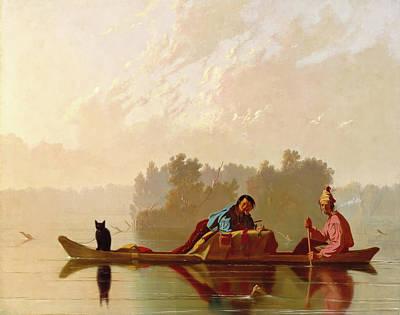 Painting - Fur Traders Descending The Missouri by George Bingham