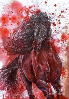 Mixed Media - Furia Negra  by Louise Green