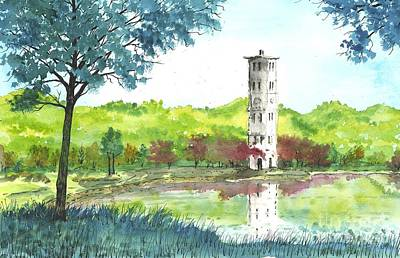 Furman Bell Tower Two Art Print