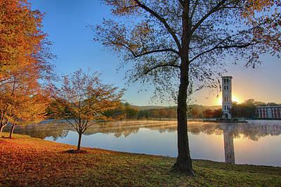 Furman Photograph - Furman Lake Sunglow by Joe Hiltabidel