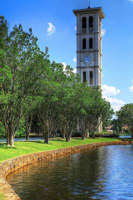 Greenville Photograph - Furman University Bell Tower Greenville South Carolina by Carol R Montoya