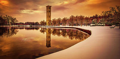 Photograph - Furman University Bell Tower In Winter by Unsplash