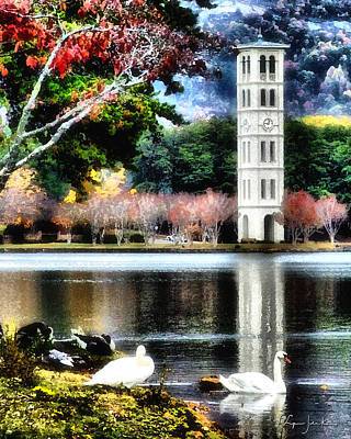 Carolina Duck Painting - Furman University Bell Tower by Lynne Jenkins