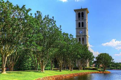 Furman Photograph - Furman University Bell Tower South Carolina II by Carol Montoya