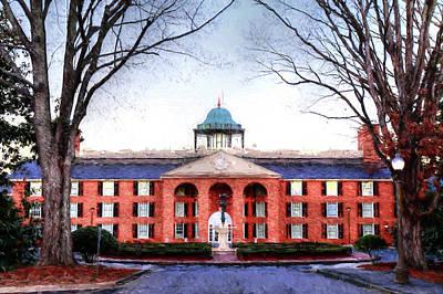 Furman Photograph - Furman University Judson Hall  by Carol Montoya