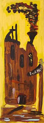 Art Print featuring the painting Furnace 3 Today by Mary Carol Williams