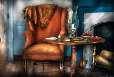Photograph - Furniture - Chair - Aunt Ruthie's Chair  by Mike Savad
