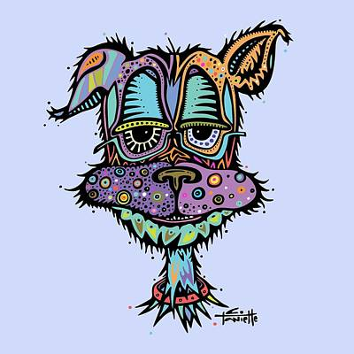 Digital Art - Furr-gus by Tanielle Childers