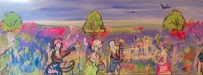 Painting - Further Along Is Lavender Lane  by Judith Desrosiers