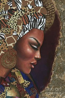 Mixed Media - Further Contemplation by Alga Washington