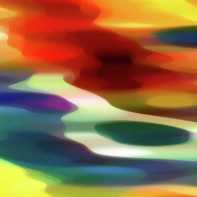 Abstract Beach Landscape Digital Art - Fury 1 B by Amy Vangsgard
