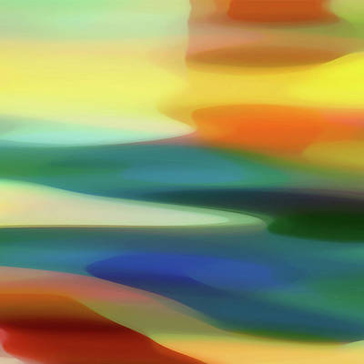Abstract Beach Landscape Digital Art - Fury 6 B by Amy Vangsgard
