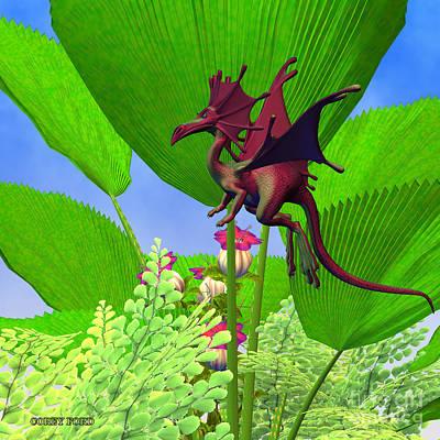 Fury Flying Dragon Art Print by Corey Ford