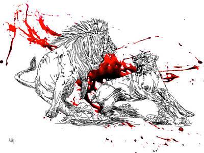 Fury Art Print by Lawrence O'Toole