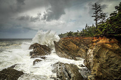 Fury Photograph - Fury On The Oregon Coast by James Eddy