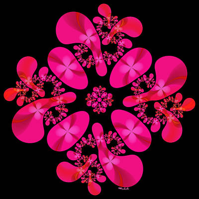 Digital Art - Fuschia Frenzy by Michele A Loftus