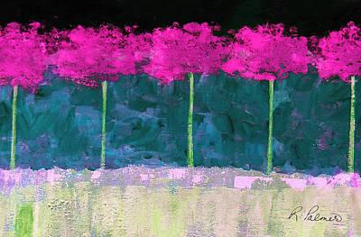 Fuschia Trees Art Print
