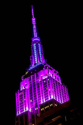 Empire State Building Photograph - Fuscia Flavor by Az Jackson