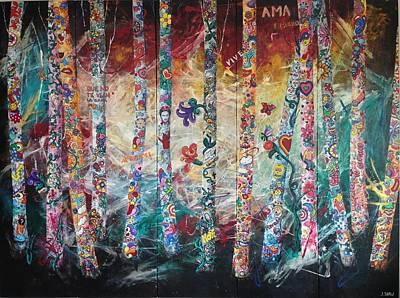 Frida Mixed Media - Fusion De Color by Jacqueline Shaw