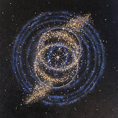 Galaxy Fusion Painting - Fusional Love by Murielle Sunier