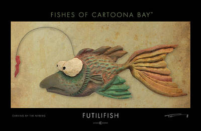 Sculpture - Futilifish Cartoonafish by Tim Nyberg