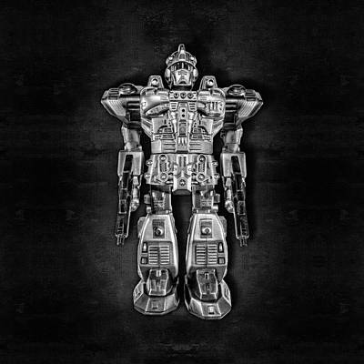 Photograph - Future Cop Robot Bw by YoPedro