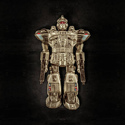 Photograph - Future Cop Robot On Black by YoPedro
