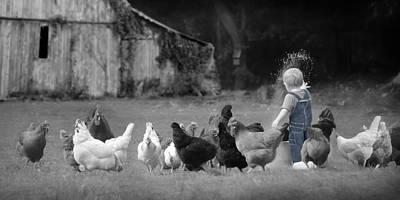 Chicken Mixed Media - Future Farmer by Lori Deiter