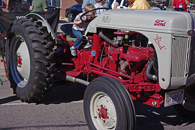 Photograph - Future Farmer Of America Ford Red Gray Tractor by Robyn Stacey
