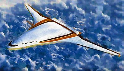 Digital Painting - Future Flight by Mario Carini