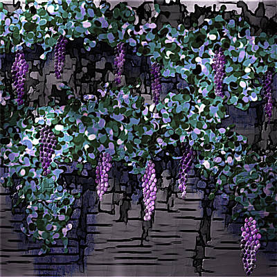 Digital Art - Future Grape Wine by Artful Oasis