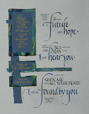 Jer Mixed Media - Future Hope II by Judy Dodds