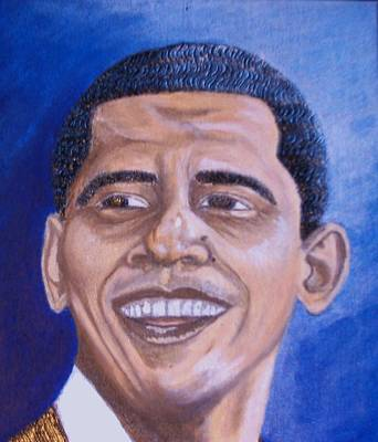 Barack Obama Mixed Media - Future Of Change Looks Bright  by Keenya  Woods