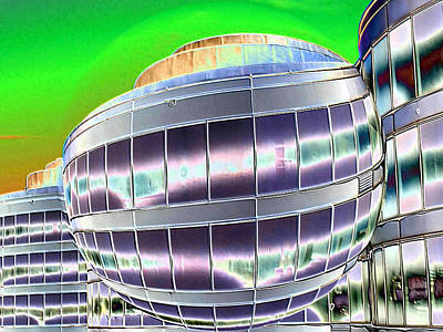 Abstract Digital Photograph - Future Office Space by Carol Groenen