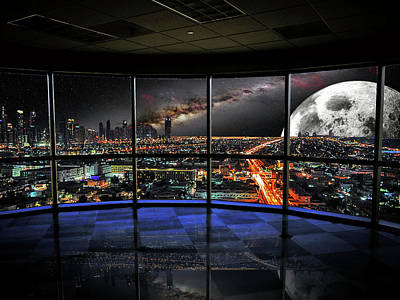 Mixed Media - Future Office Space by John Swartz